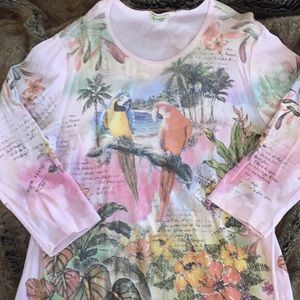 Birds and Floral Novelty T